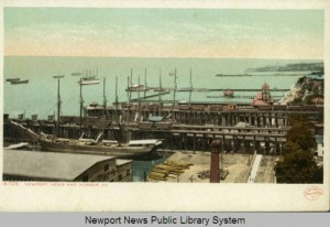 Newport News Harbor (1901) from the Historic Postcards of Newport News, VA